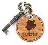 Mr. & Mrs. Panda Rundwelle Schlüsselanhänger Schildkröte - Schildkröte, Panzer, Turtle Schlüsselanhänger, Anhänger, Taschenanhänger, Glücksbringer, Schlüsselband