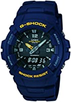 Casio  G-100-2BVMUR G-Shock Mens Watch Digital and Analogue with Navy Resin Strap