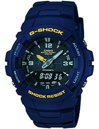 G-Shock G-100-2BVMUR - Reloj analógico - digital de caballero de cuarzo con correa azul