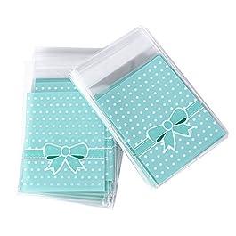 (8 * 10cm + 3cm) 200pz Sacchetti Plastica Piccoli Sacchettini Bustine Trasparenti Confezioni per Regalo Biscotti…