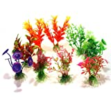 SODIAL (R) 10 x Mixed Kuenstliche Aquarium Wasserpflanze Kunststoff Dekoration Ornament