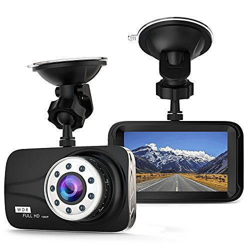"Car Dash Cam - Full HD 1080P Dash Cam 170° Wide Angle 3"" LCD In Car Dashboard Camera DVR Video Recorder with G-Sensor, WDR & Night Vision, Motion Detection"