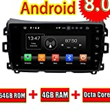 ROADYAKO Octa Core Central Media für Nissan Navara Linkslenker 2016 Android 8,0 Autoradio-Stereo mit GPS-Navigation 3G WiFi Spiegellink RDS FM AM Bluetoot