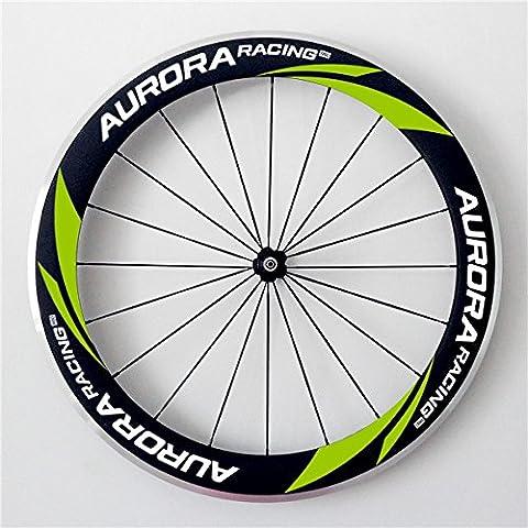 Aurora Racing 700C 60mm tief 20,5mm Breite Drahtreifen Carbon Road Bike Rollen R35Hub Sapim Speichen 20Löcher (Alufelge 24 Spoke)