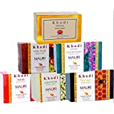 Khadi Assorted Soap Combo Pack of 6 Herbal Handcrafted Ayurvedic Natural Soaps, 125g each
