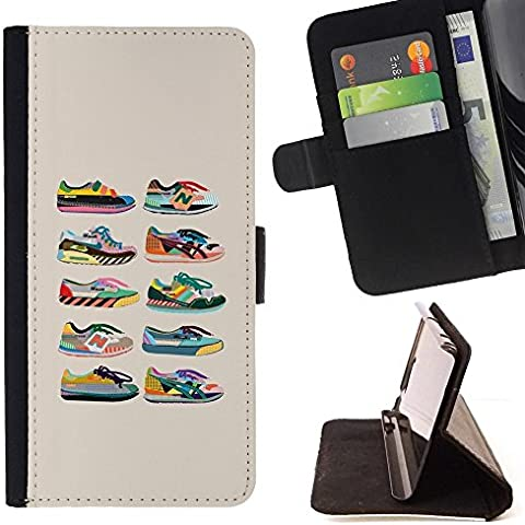 Momo Phone Case / Protettiva Custodia Flip Wallet in pelle - Scarpe Sneakers Fashion Design beige Grafico - LG G4c Curve H522Y (G4 MINI), NOT FOR LG G4