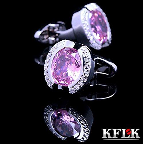 Herren manschettenknöpfe Saphir Kristall Faux-Diamanten