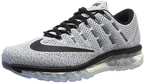 Nike Air Max, Chaussures de Running Homme, Blanc, Noir (Blanco (White/Black)), 42 1/2 EU