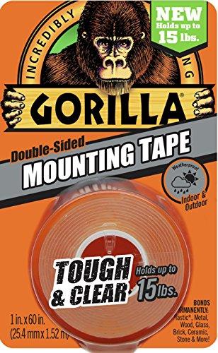 Gorilla Tough & Transparent Montage-Klebeband (Surface Mount Exterior)