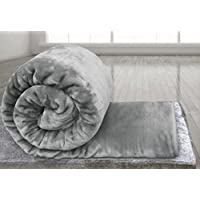Soft Luxury Faux Fake Fur Mink Throw Sofa Bed Blanket - Silver Grey - Large 150x200cms