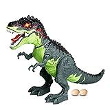 Sisit Dinosaure à Simulation de Pulvérisation électrique,Marche, Jouet, Dragon, feu Spray d'eau Respirante Cadeau de Noël de Dinosaure 43 x 28 x 18cm. (Multicolore)