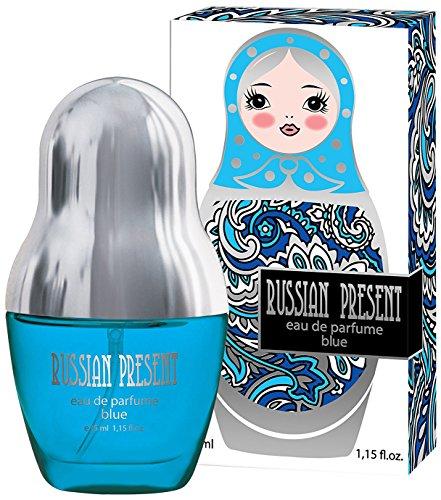 Russian Present Blue Eau de Parfüm für Damen/femme/women - 35 ml Flakon - Verkaufspreis: € 21.99 - Bestes Geschenk für Sie + Sale