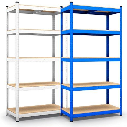 Panorama24 Lagerregal blau belastbar bis 875kg - Maße: 200 x 120 x 60 cm, Regal Kellerregal Steckregal Werkstattregal Schwerlastregal
