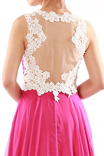 MACloth Women Lace Straps Ruched Chiffon Long Prom Dress Evening Formal Gown Grün
