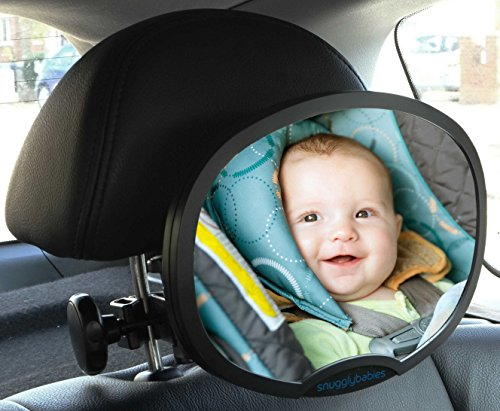Baby Car Mirror - Highest Stability | Clamp Design | Quick Installation | 100% Shatterproof | Easily Adjustable | PREMIUM QUALITY  Baby Car Mirror – 100% Shatterproof 51DeMAInAJL