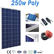 Placa solar 250w panel solar Fotovoltaico Polycrystalline with Cables and connectors