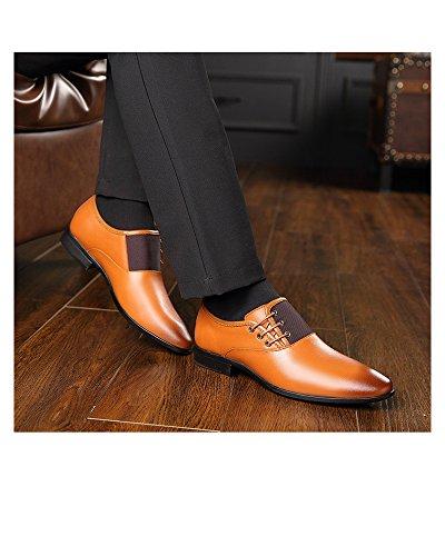 d1a87fcb35 Tela de Lona de Negocios para Hombres/Zapatos de Cuero Artificiales de la.