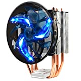 XuBa Pure Copper 4 Heat Pipe Multi-Plattform Ultra leise Desktop-Computer CPU-Kühler blau blau