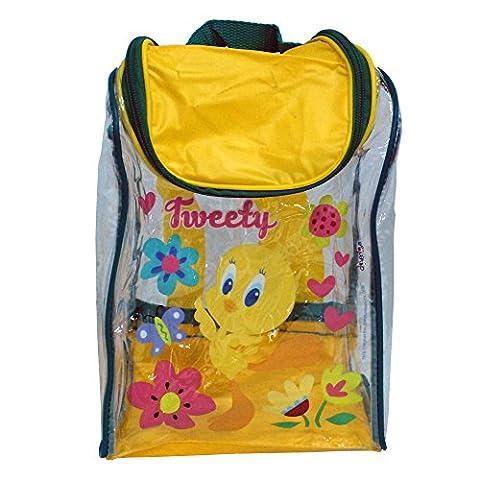 Children's TV Show Character Licensed Transparent Clear Swim Beach Travel Sports Bag Range Girls Boys & Unisex Designs (Tweety