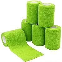 yumai 7,5cm x 4,5m selbsthaftende Bandage Haftbandage, elastische Bandage, Bandagen (Gras Grün)–6roll preisvergleich bei billige-tabletten.eu