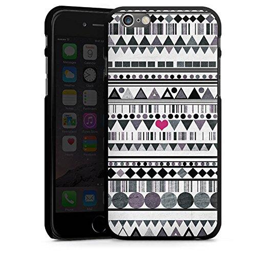 Apple iPhone 5 Housse Étui Silicone Coque Protection Motif Motif C½ur CasDur noir