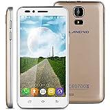 "Landvo V1 - 3G Smartphone Teléfono Móvil Libre (Pantalla 4.5"", Android 5.1, 4GB ROM, Quad-Core 1.3GHz, Dual SIM), Dorado"
