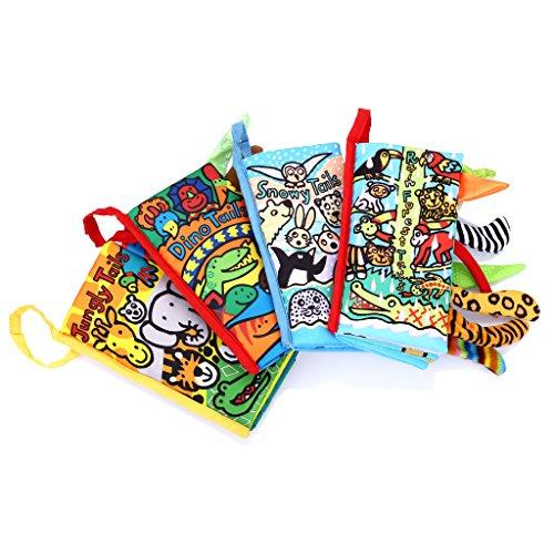 Jollybaby Libro de primeros auxilios para niños de desarrollo educativo Juego de 4-Jungly Tails & Dino Tails & Rainforest Tails & Snowy Tails