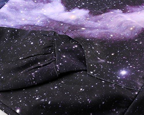sankill Hoodie Herren Kapuzenpullover Galaxy Bunte HD 3D Bedruckte Pullover Unisex Harajuku Langarm Sweatshirt Kapuzenjacke Black Galaxy
