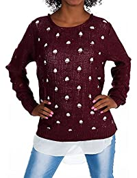 0afa1845fbc1 Diva-Jeans H341 Damen Pullover Bluse Pulli Strick Sweater Damenpullover  Sweatshirt Shirt