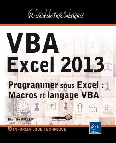 Read Vba Excel 2013 - programmer sous excel : macros et langage vba