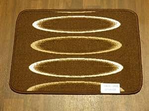 Antidérapant Lavable en machine de cuisine utilitaire Caravane 40x 57cm Tapis de porte Tapis de qualité supérieure en marron