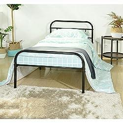 Aingoo 3ft Single Metal Bed Frame Solid Bedstead Base for Children Kids Adults Black