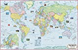 World Map : Political ( 70 x 50 cm ) (World Map)