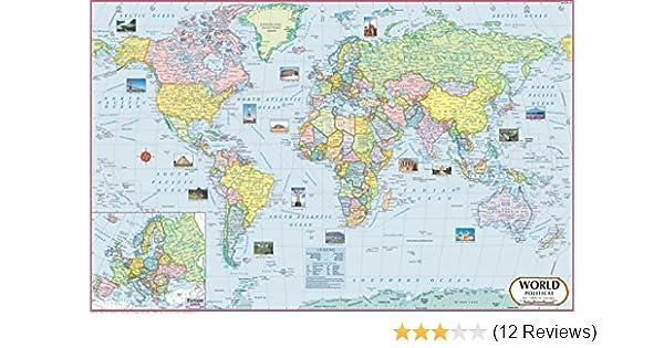 Buy World Map : Political ( 70 x 50 cm ) (World Map) Book