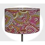 Lampenschirm Handgemacht 40 cm Durchmesser aus Stoff // Rosa