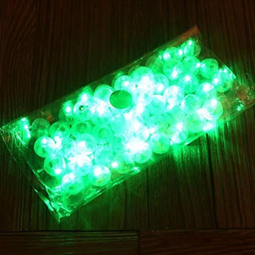 Gaocunh 10 Stück Mini LED Lampions Papierlaternen Licht LED Luftballons Lichter für Luftballons Blumen Party Hochzeit Dekoration grün