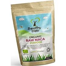 Maca Orgánica en Polvo - Alto contenido en vitaminas B1, B2, B6, Calcio, Hierro y Zinc - Aumenta los niveles de energía y aumenta la vitalidad con polvo de raíz de Maca cruda orgánica por TheHealthyTree Company