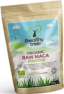 Maca BIO en Poudre - Riche en vitamines B1, B2, B6, calcium, fer et zinc - Augmentez les niveaux d'énergie et augmentez la vitalité avec la poudre de maca crue bio par TheHealthyTree Company
