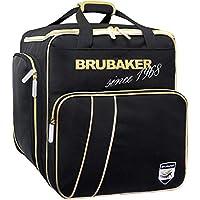 Brubaker \'Grenoble\' - Bolsa de Deporte - Mochila para Botas de esquí + Casco + Accesorios - Color Negro/Dorado