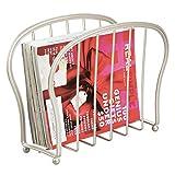 mDesign porta riviste - elegante portagiornali design in metallo - ideale portariviste bagno o ufficio - pratico raccoglitore perfetto per libri, tablet, giornali ecc.