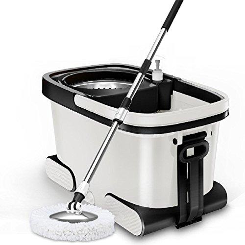GAOJIAN Mop Barrel Rotary Mop Automatik Drift Dry Double Drive Dicker Haushalt Microfaser Mop Tuch Boden Reinigung Werkzeug Edelstahl Mop