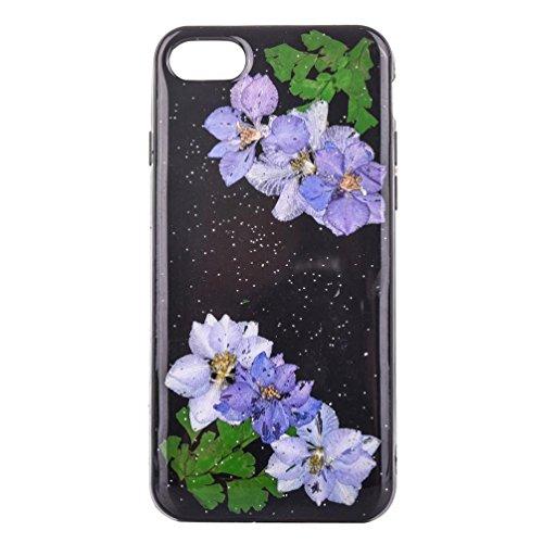 Ouneed® Für Iphone 7 Plus 5.5 Zoll Hülle , Mütter Tag Geschenk Echte blume High-quality Fashion Floral Pattern Case Cover Skin für iPhone 7 Plus 5,5 Zoll (K) H