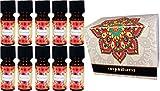Set di 10oli essenziali profumati per aromaterapia in confezione regalo- Produttore: Organiterra.- Profumi assortiti.