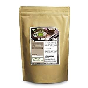 Nurafit BIO Quinoa Körner weiß, Inkareis aus Paraguay, Samen zertifiziert nach DE-ÖKO-001, Superfood rein natürlich ohne Zusätze in Rohkostqualität, mit essentiellen Aminosäuren, 1000g, 1kg