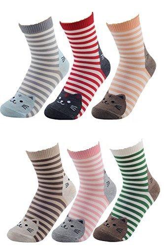 6-paires-chat-femmes-chaussettes-de-melange