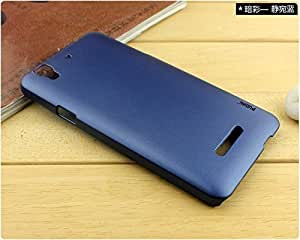 Gursid Smart Original Pudini Back Cover For YU Yureka AAO5510 + Gursid Tempered Glass-Blue