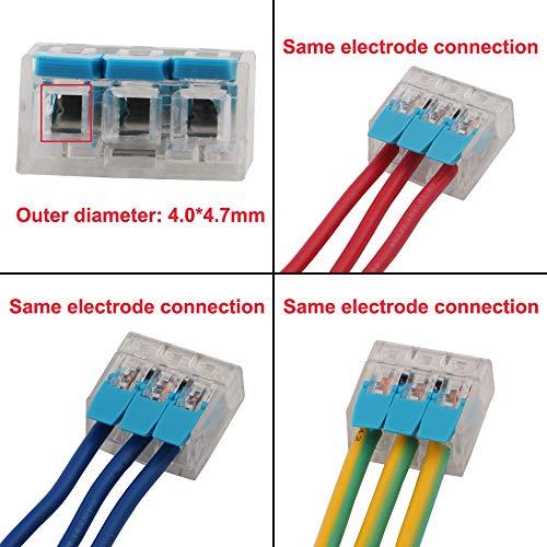 Pelacables para Cable WPERSUVV 15 PCS Terminales Electricos Rapidos Terminales Cables//Alambre Compacto Conector 222-413