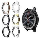 Ruentech Schutzhülle für Gear S3 Frontier, SM-R760 Cover Case All Inclusive galvanisiertes Gehäuse Tropfsicher und stoßdämpfend für Gear S3 Smart Watch, 6 Stück