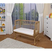 WALDIN Baby Bedside Cot Co-Sleeping Height Adjustable,untreated or White