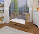 WALDIN Baby Bedside Cot Co-Sleeping height adjustable,untreated